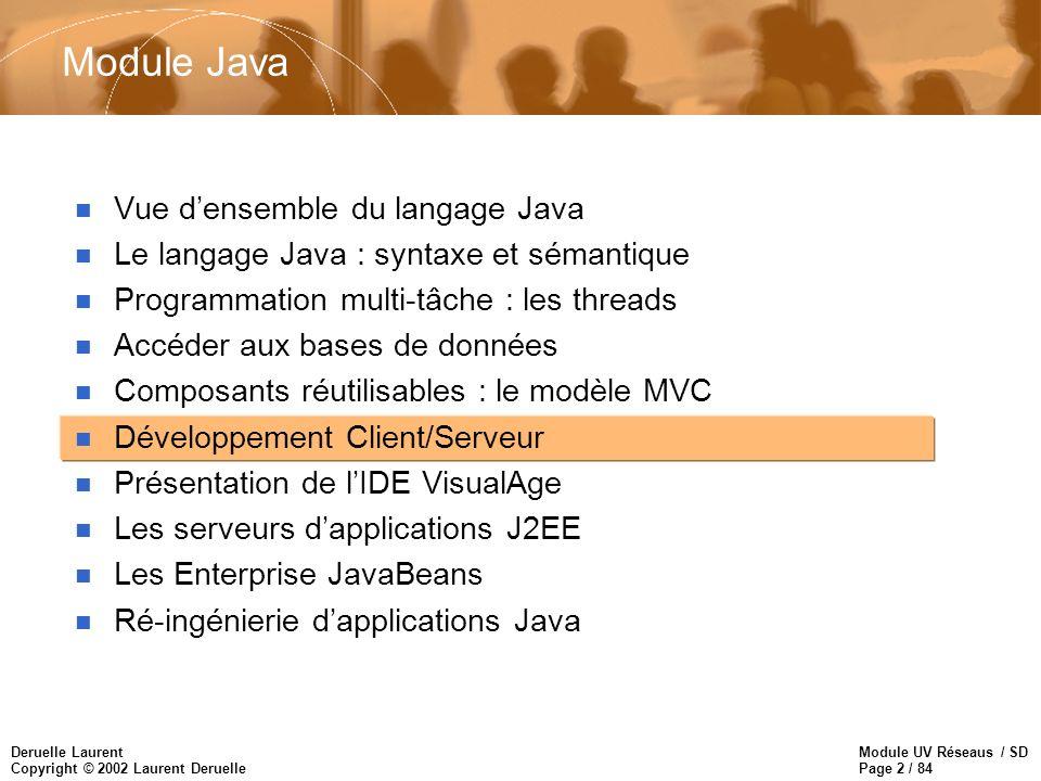 Module Java Vue d'ensemble du langage Java