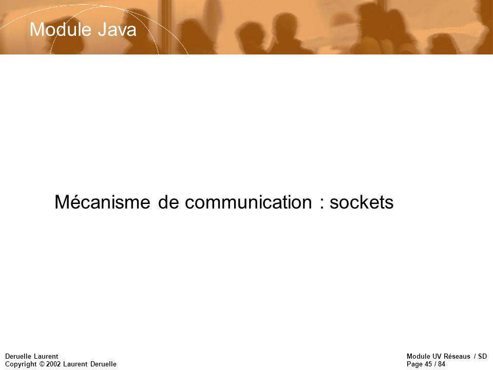 Mécanisme de communication : sockets