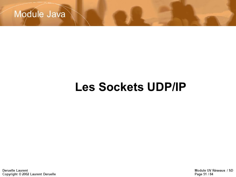 Module Java Les Sockets UDP/IP