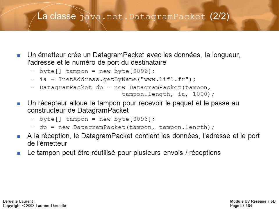 La classe java.net.DatagramPacket (2/2)