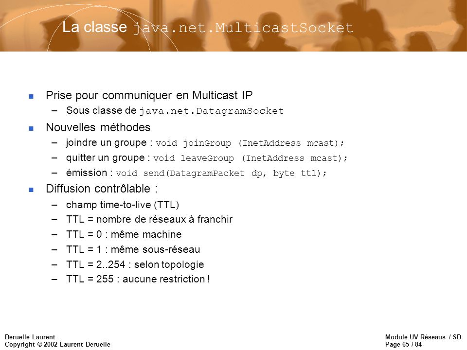 La classe java.net.MulticastSocket