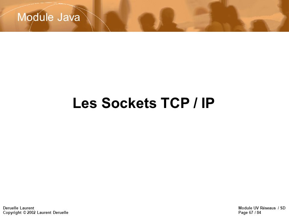 Module Java Les Sockets TCP / IP