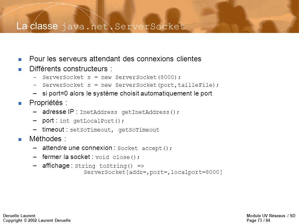 La classe java.net.ServerSocket