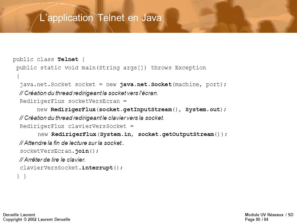 L'application Telnet en Java