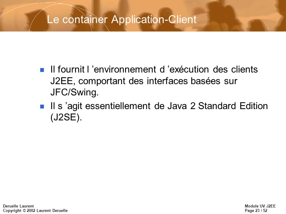 Le container Application-Client