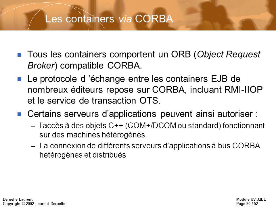 Les containers via CORBA