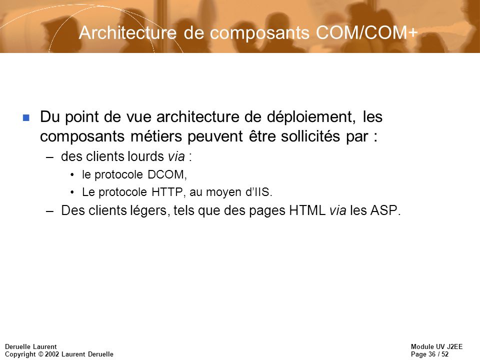 Architecture de composants COM/COM+