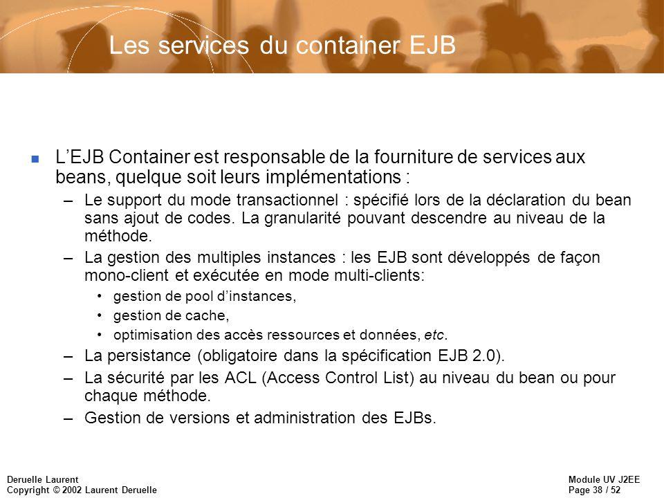 Les services du container EJB