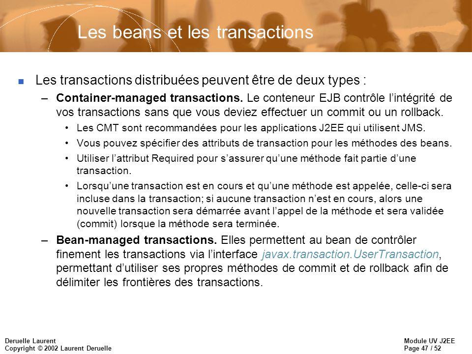 Les beans et les transactions