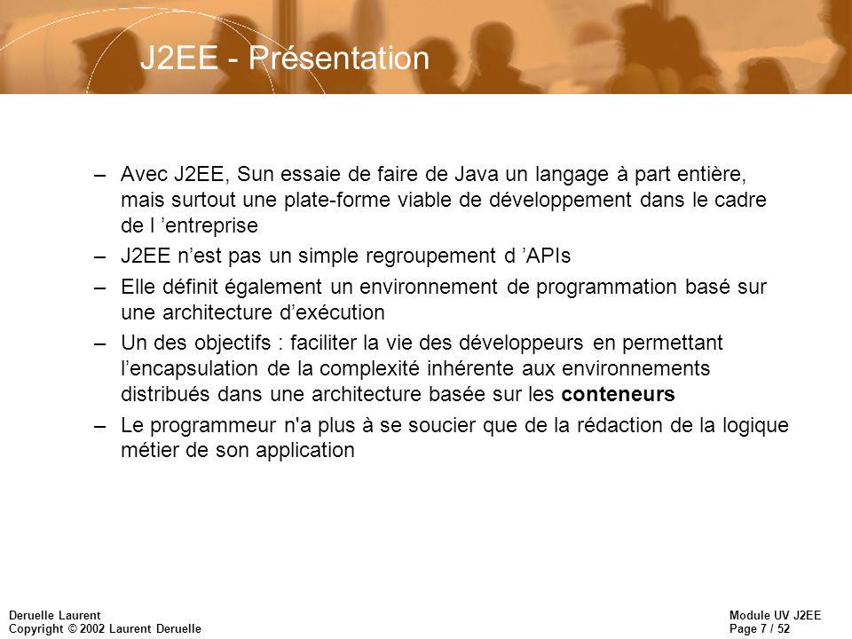 J2EE - Présentation
