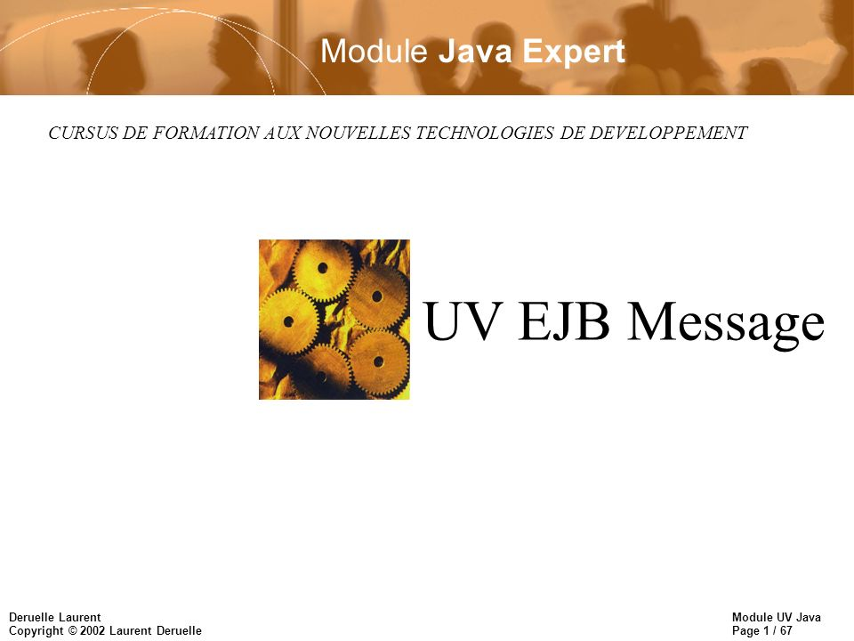 UV EJB Message Module Java Expert