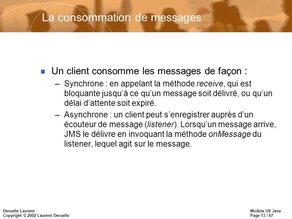 La consommation de messages