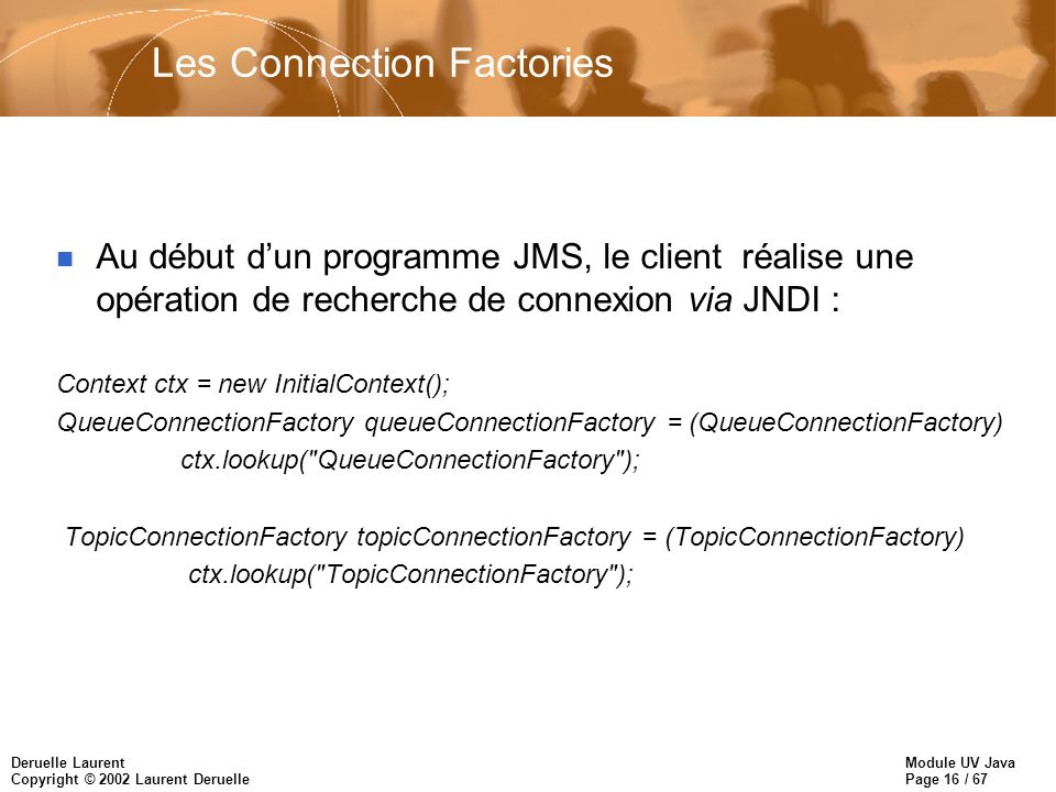 Les Connection Factories
