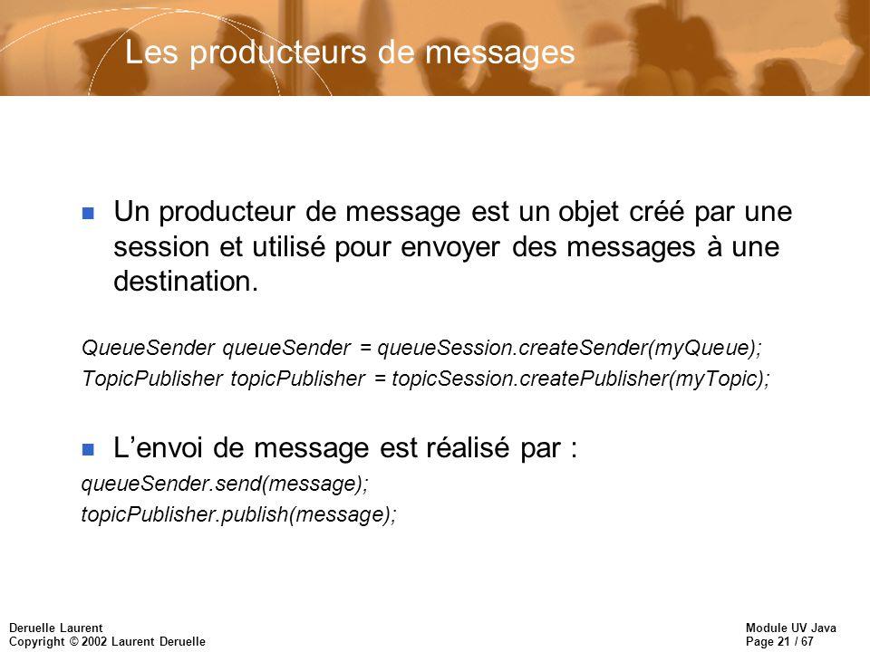 Les producteurs de messages
