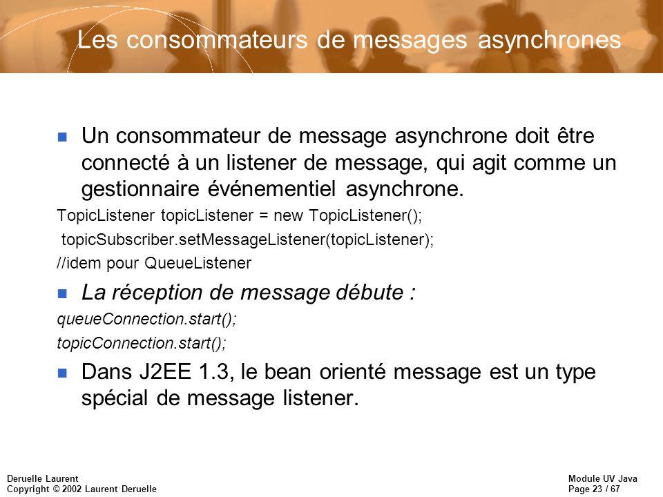 Les consommateurs de messages asynchrones