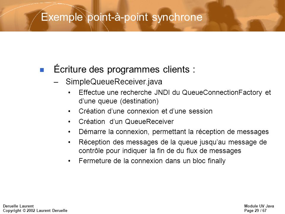 Exemple point-à-point synchrone