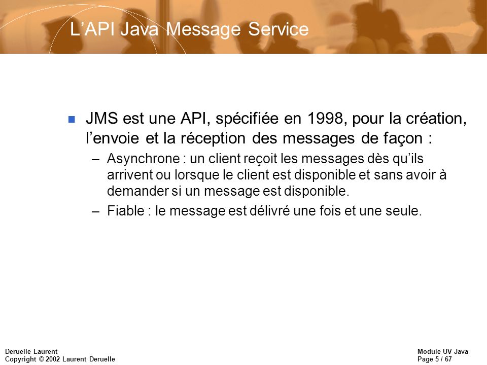 L'API Java Message Service