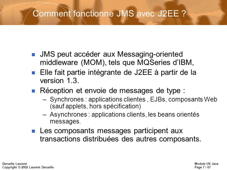 Comment fonctionne JMS avec J2EE