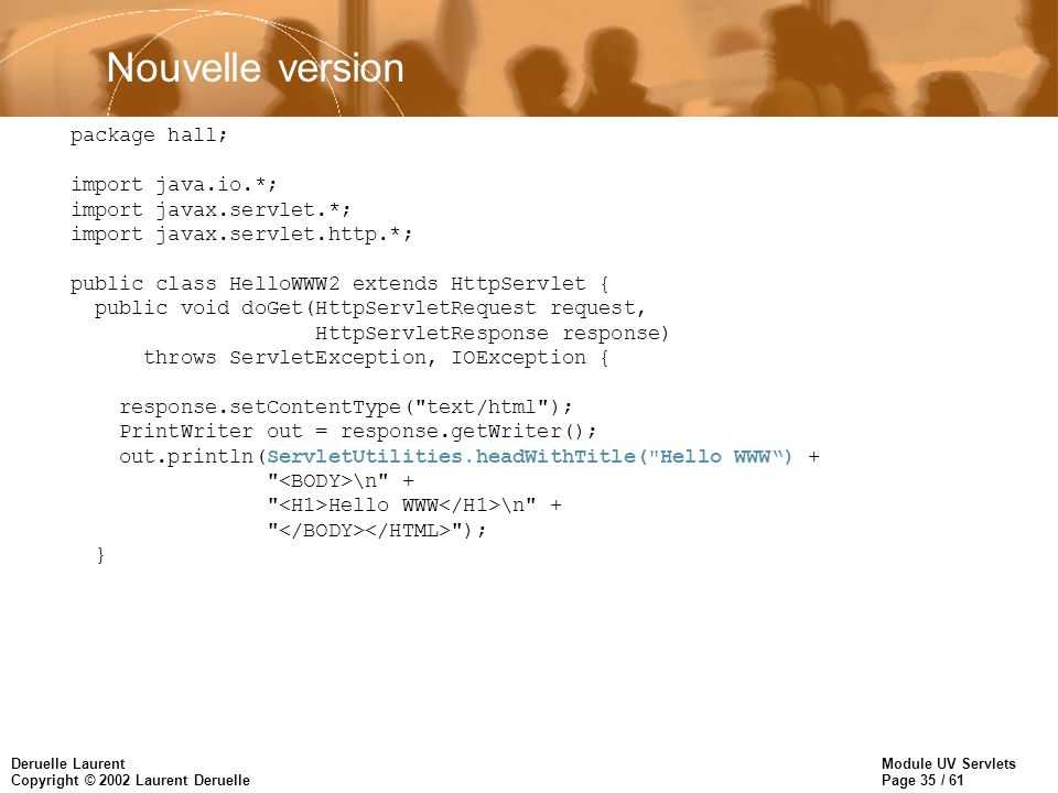 Nouvelle version package hall; import java.io.*;