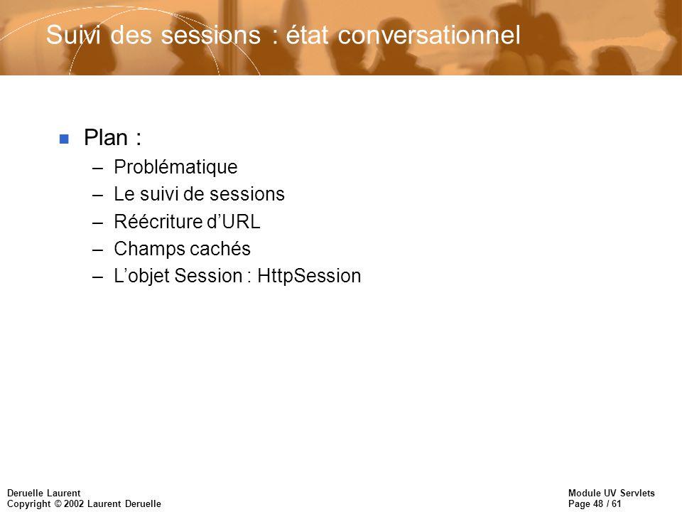 Suivi des sessions : état conversationnel