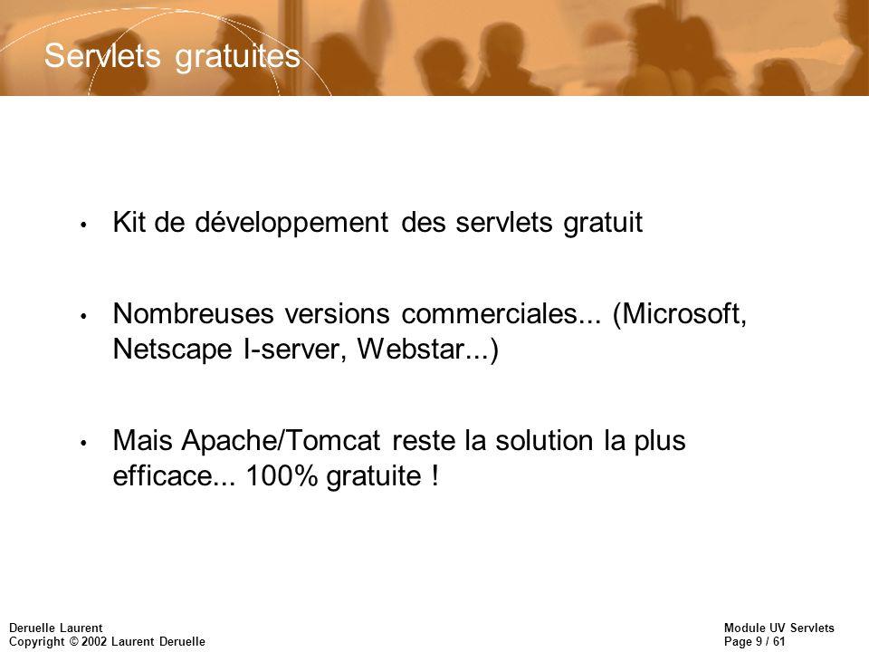 Servlets gratuites Kit de développement des servlets gratuit
