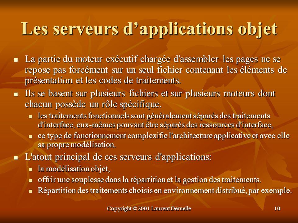 Les serveurs d'applications objet