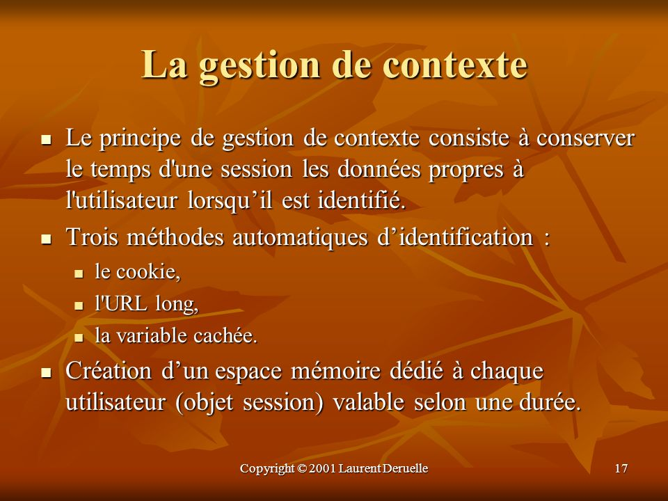 Copyright © 2001 Laurent Deruelle