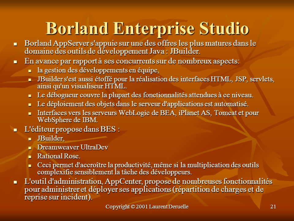 Borland Enterprise Studio