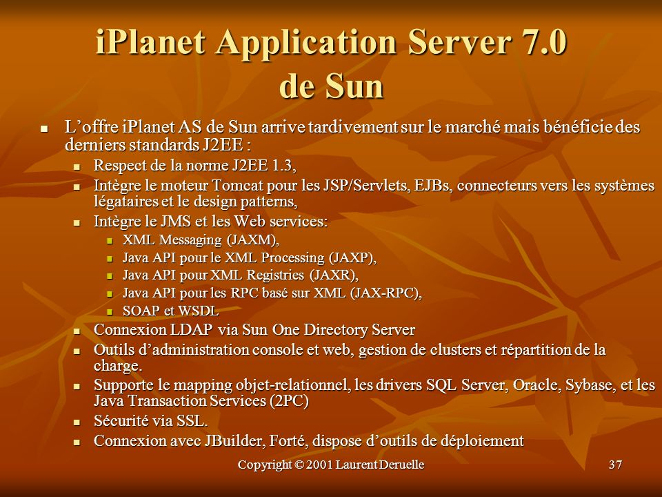 iPlanet Application Server 7.0 de Sun