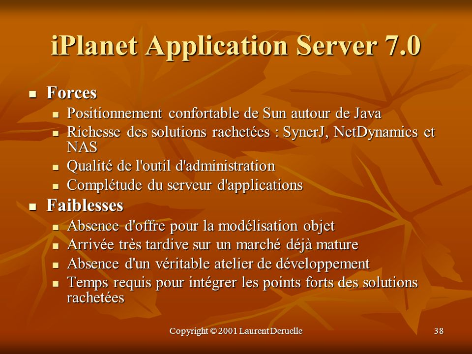 iPlanet Application Server 7.0