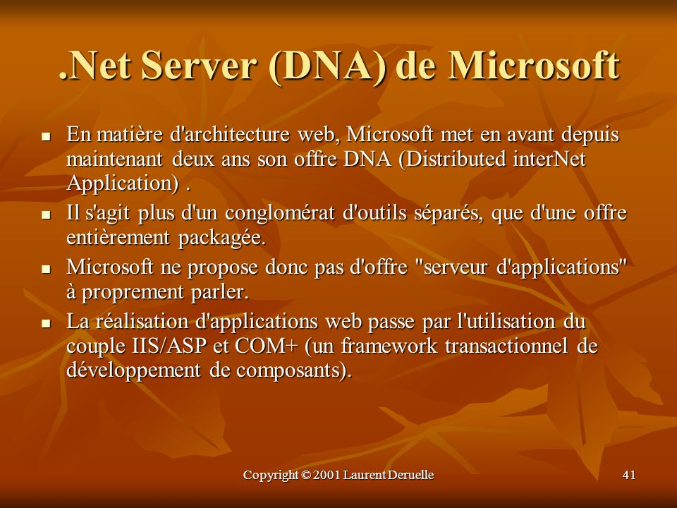 .Net Server (DNA) de Microsoft