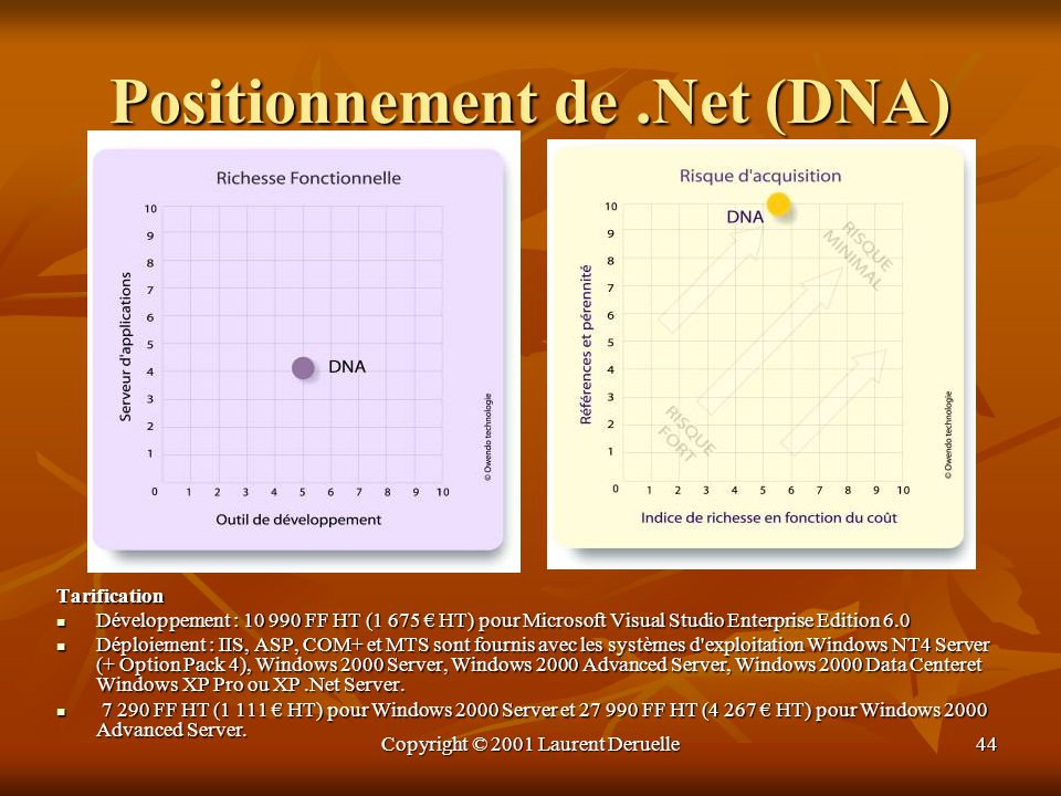 Positionnement de .Net (DNA)