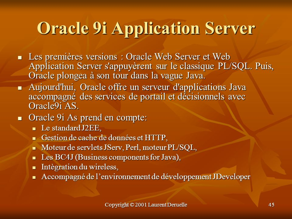 Oracle 9i Application Server