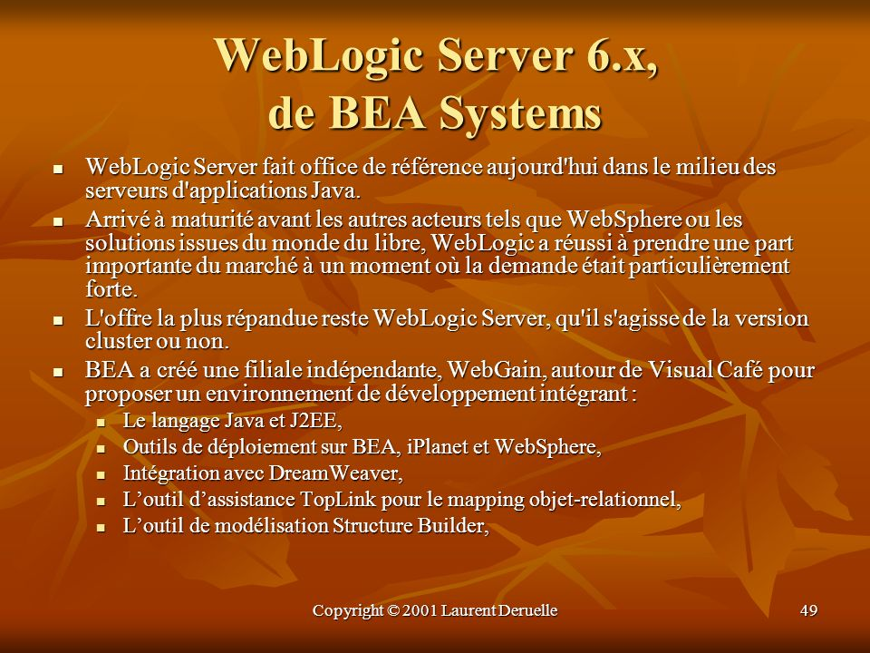 WebLogic Server 6.x, de BEA Systems