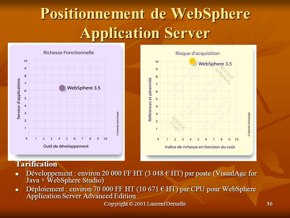 Positionnement de WebSphere Application Server