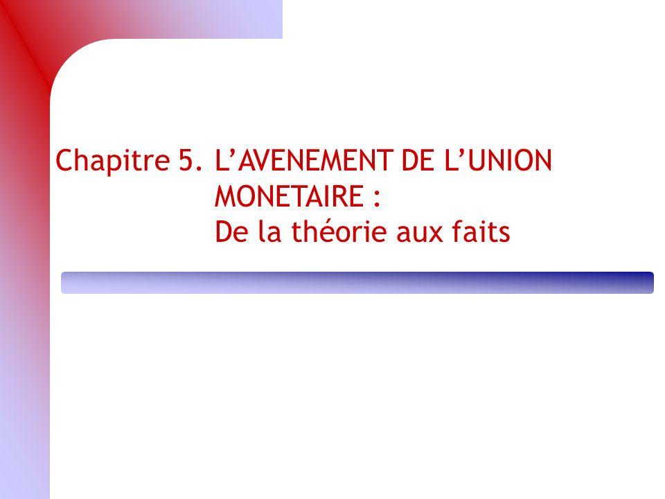 Chapitre 5. L'AVENEMENT DE L'UNION MONETAIRE :