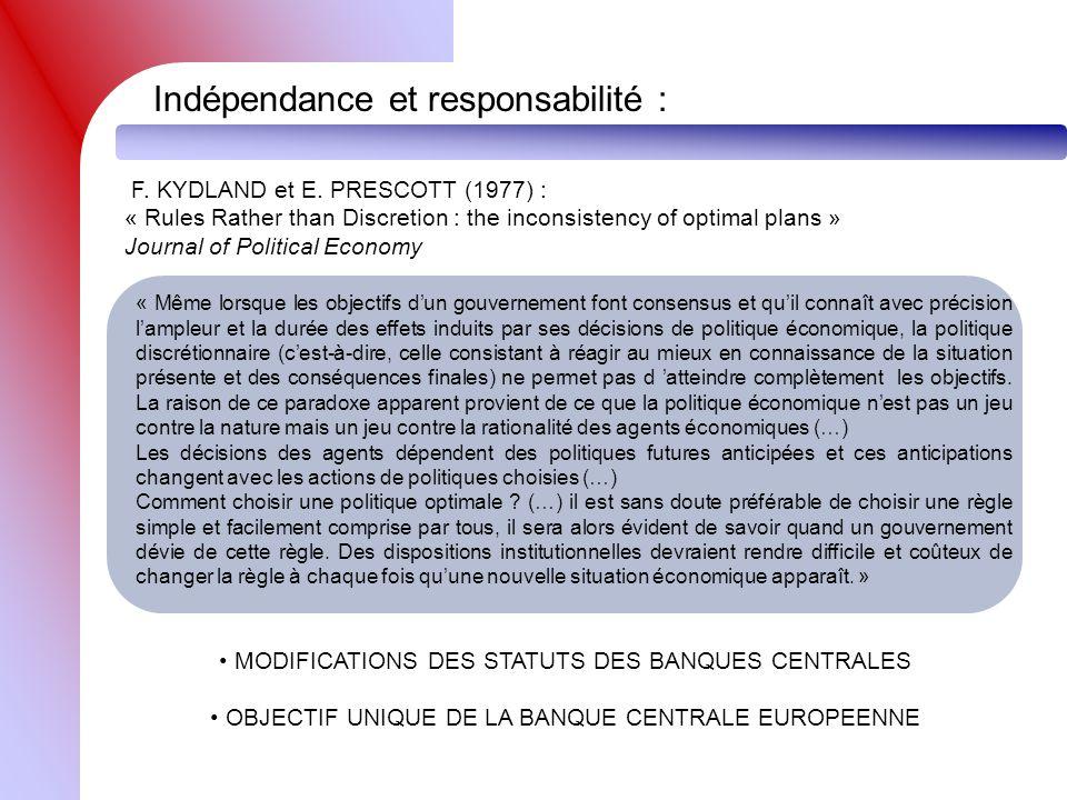 Indépendance et responsabilité :