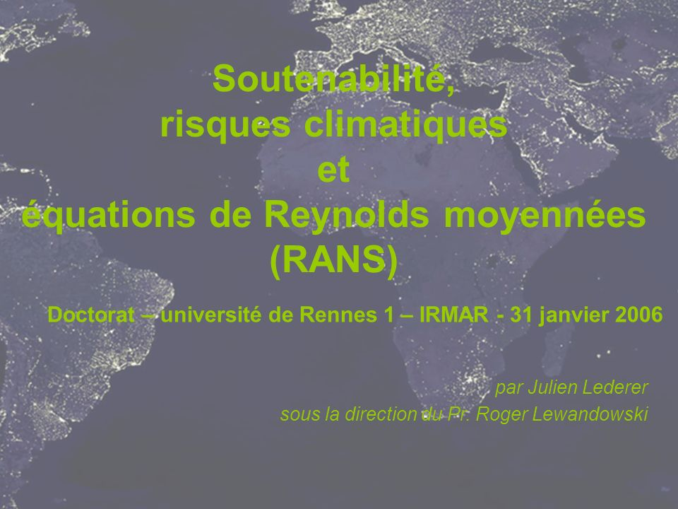 Doctorat – université de Rennes 1 – IRMAR - 31 janvier 2006