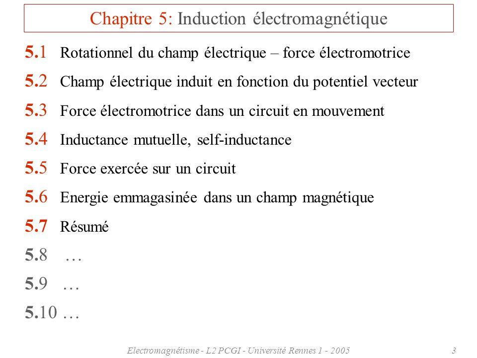 Chapitre 5: Induction électromagnétique