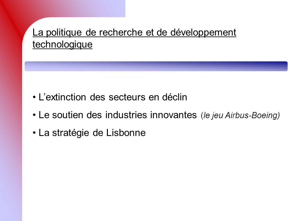 La politique de recherche et de développement technologique