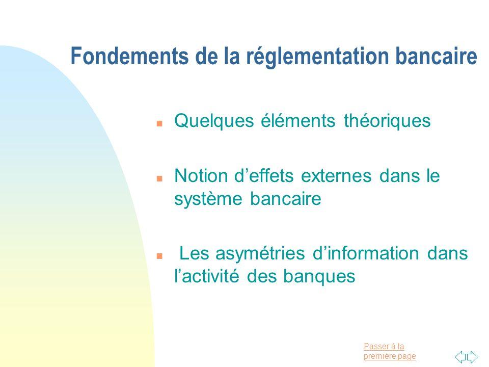 Fondements de la réglementation bancaire
