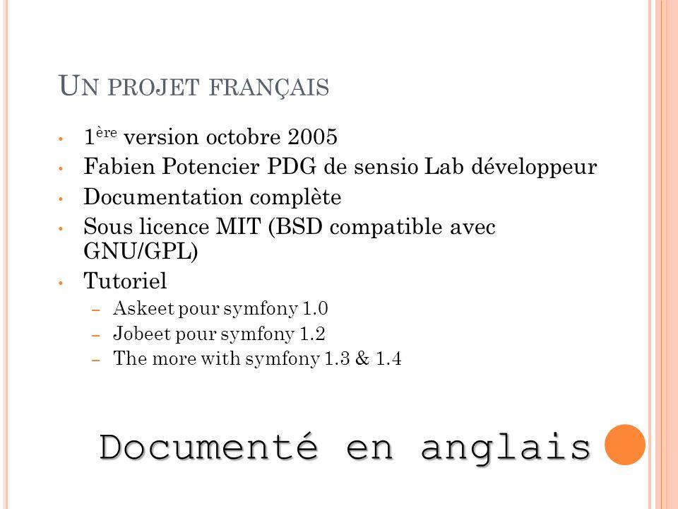 Documenté en anglais Un projet français 1ère version octobre 2005