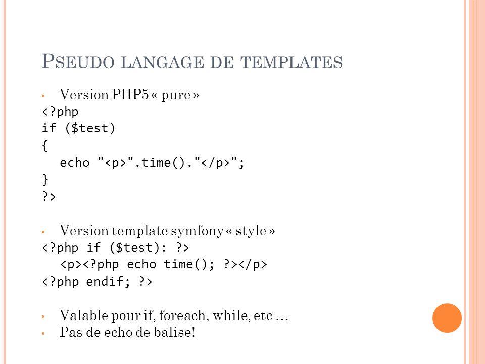 Pseudo langage de templates