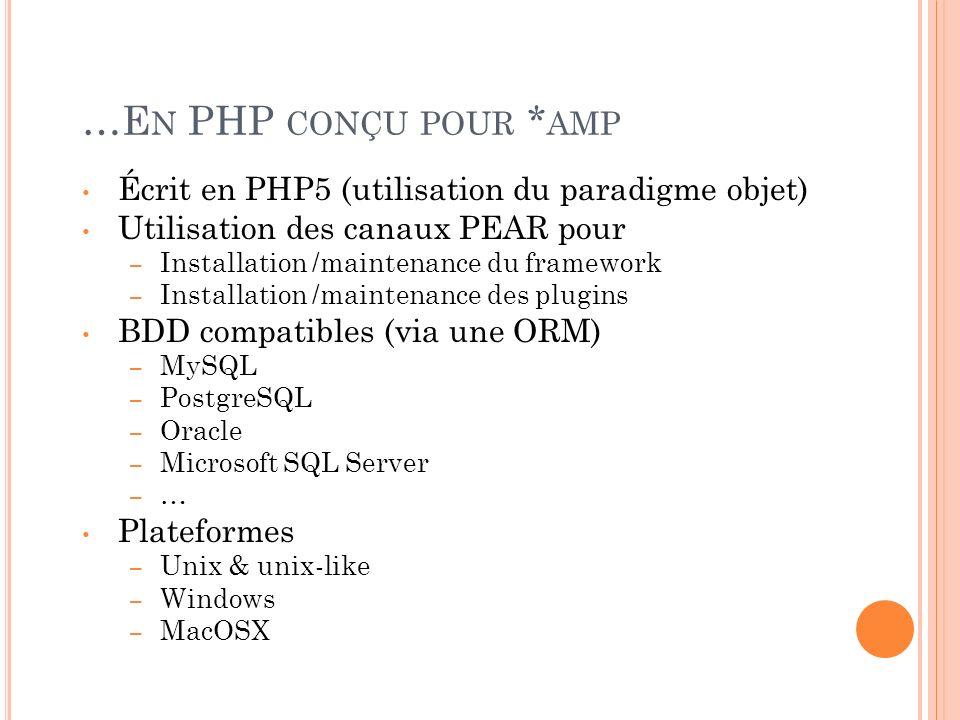 …En PHP conçu pour *amp Écrit en PHP5 (utilisation du paradigme objet)