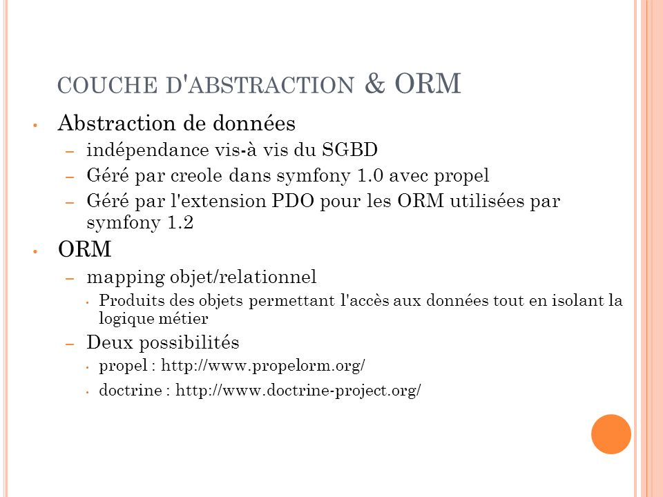 couche d abstraction & ORM