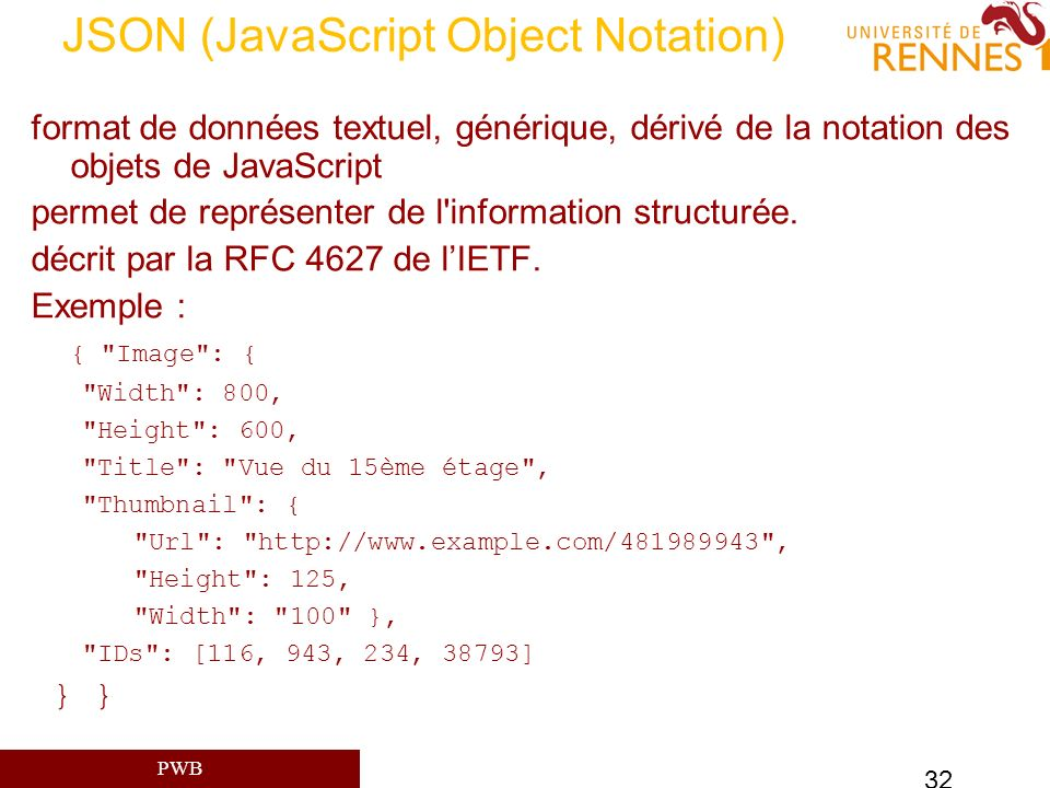 JSON (JavaScript Object Notation)