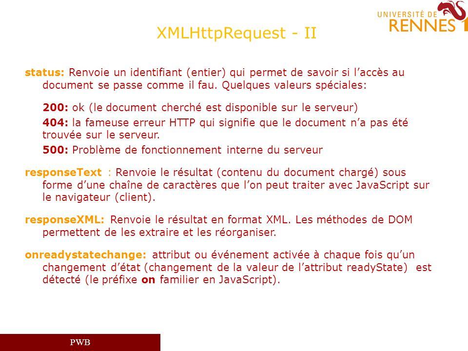 XMLHttpRequest - II