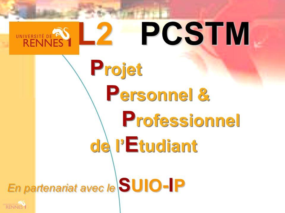 L2 PCSTM Projet Personnel & Professionnel de l'Etudiant