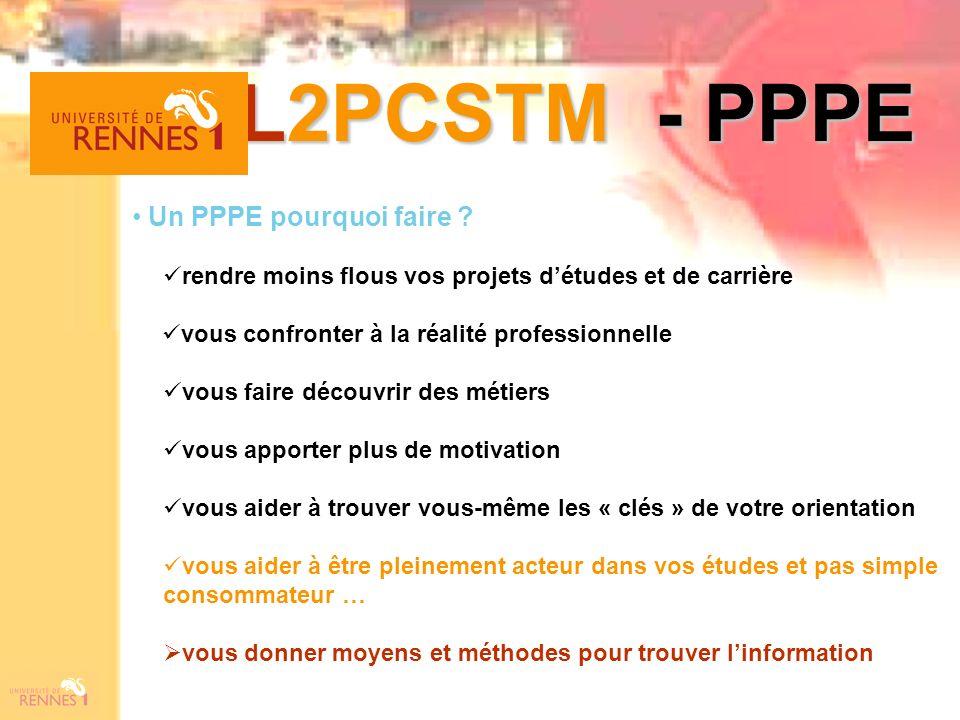 L2PCSTM - PPPE Un PPPE pourquoi faire