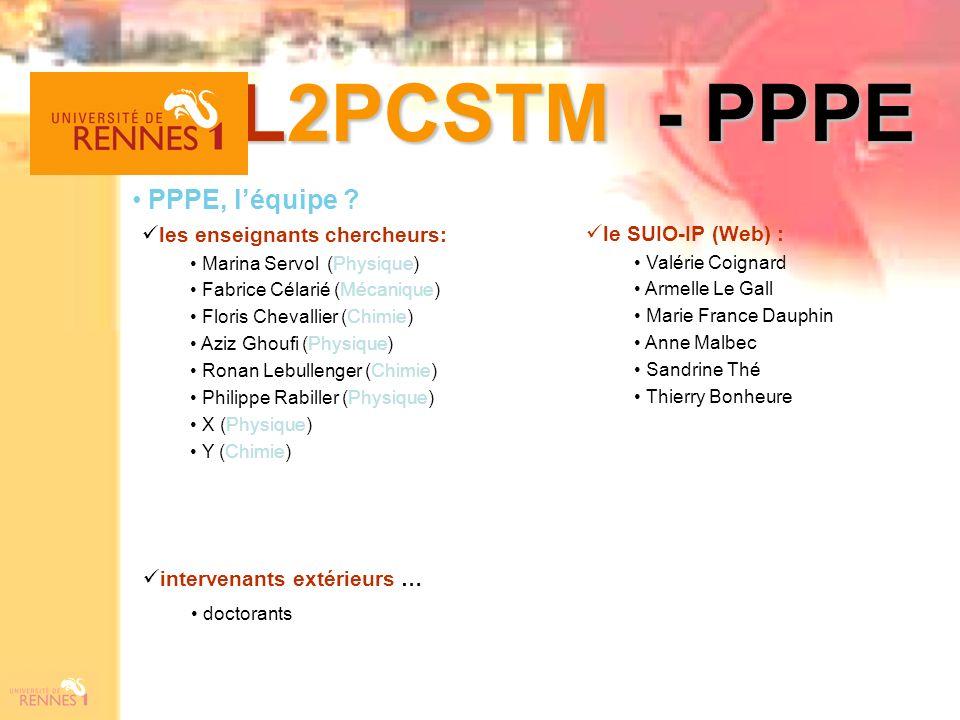 L2PCSTM - PPPE PPPE, l'équipe les enseignants chercheurs: